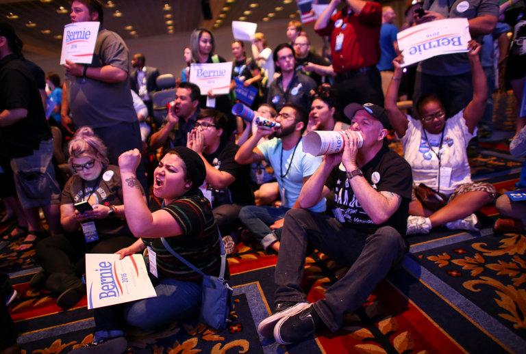 Bernie Sanders supporters Las Vegas